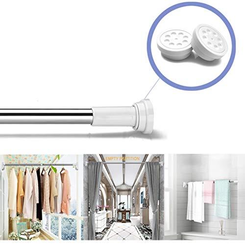 FUTNHomtex douchestang uitschuifbaar gordijn staaf kleding paal toepasbaar met in fijne aanpassing moer apparaat voor Closet en deuropening
