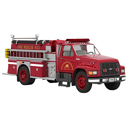 Hallmark Keepsake Christmas Ornament 2020 Year-Dated, Fire Brigade 1996 Ford F-800 Fire Engine, Light-Up