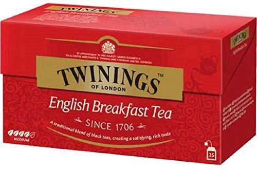 Twinings Tè Classici - English Breakfast - Miscela di Tè Neri dal Gusto Forte e Deciso - Tè per la Prima Colazione per Eccellenza, si apprezza in qualsiasi momento della giornata (50 Bustine)
