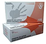 Guantes de Latex Natural Clorinado Sin Polvo Max Gloves - Color Natural - Talla XS - 100 unidades