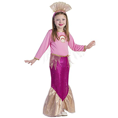 Dress Up America Costume de princesse de sirène de petites filles rose