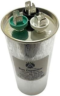 Appli Parts Dual Run Capacitor 55 + 10 Mfd uF (microfarads) 370 VAC Round 5-1/2 in High 2-1/4 in Wide CON-55/10-370-R