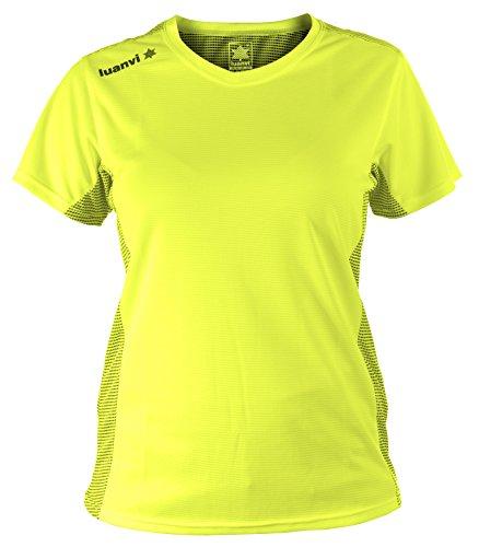 Luanvi Nocaut Plus Sra Pack de 5 Camisetas, Mujer, Amarillo flúor, M