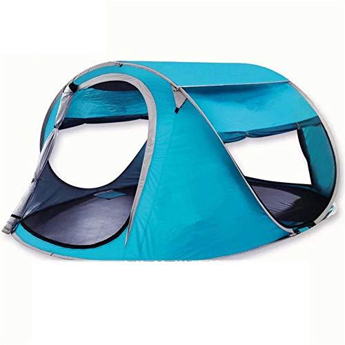 Pkfinrd Pop-up strandtent grote 2-4 persoons draagbare zonnebrandcrème voor UV-bescherming baby - geventileerde en duurzame tent