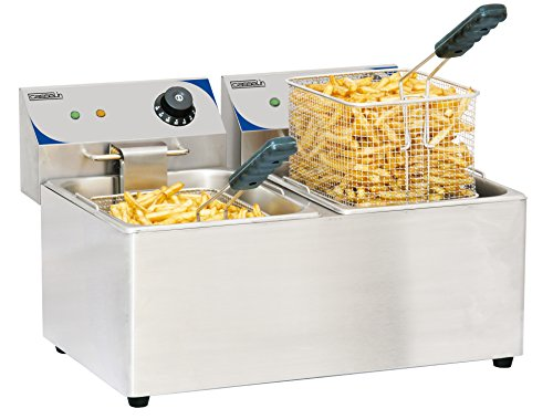Casselin Cfe82 elektrische friteuse 2 X 8 liter