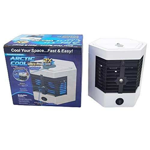 DealMux Condizionatore d'aria portatile Condizionatori d'aria mobili personali Mini USB di raffreddamento dell'aria Umidificatore d'aria Doppia funzione di raffreddamento Risparmio energetico per cas