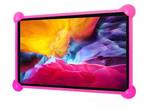 Sanzama Funda Tablet 7 Pulgadas Universal Silicona niños Compatible con Tablet 7 Lenovo Surface Pro Fire 7 Kindle 7 Samsung Galaxy Tab 7 ASUS 7 Nexus 7 iconia One 7 yuntab 7 Infantil (Rosa)