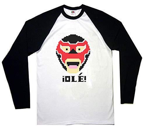 EL GENERICO Baseball T Shirt Long Sleeve SAMI Zayn Wrestler WWE,White/Black,XL
