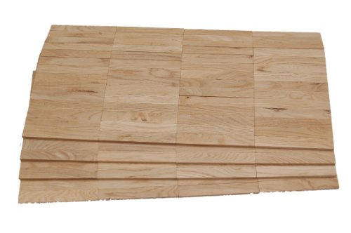 ALEKO Mosaikparkett Eiche rustikal Parallel 1 Verlegeeinheit Muster Massivparkett Massiv Mosaik roh unbehandelt Musterparkett Parkett Parallelverband