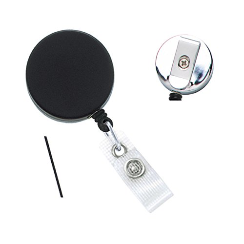Heavy Duty Retractable Badge Reel with Reinforced Vinyl Strap Clip, Packaged and Sold Individually by Specialist ID
