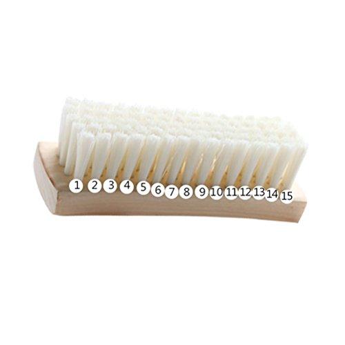 BESTOMZ Brosse à vêtements - Brosse de nettoyage à lessive avec manche en bois pour vestes et manteaux en duvet (blanc)