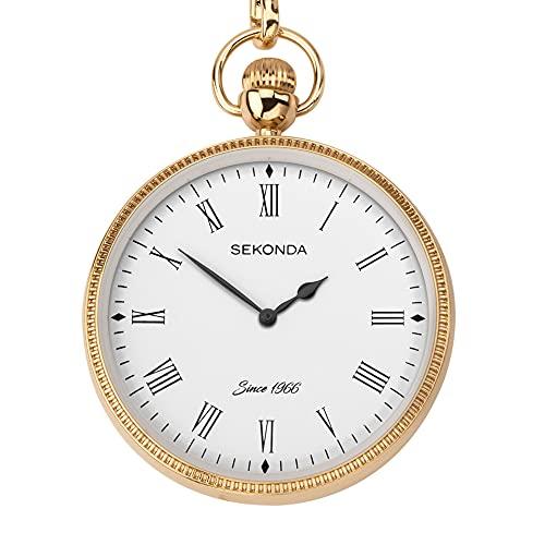Sekonda Reloj de bolsillo de acero de aleación IP oro hombres 1793.30