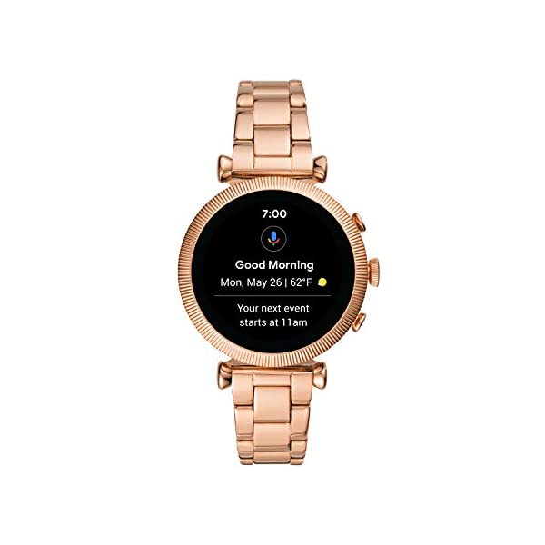 Fashion Shopping Fossil Women's Gen 4 Sloan HR Stainless Steel Touchscreen Smartwatch with Heart
