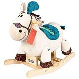 Caballo balancin Madera, madera felpa Balancín juguete for el niño del bebé de 1-3 años, Niños de la felpa del caballo de oscilación, blanco caballo balancín de madera, caballitos de balancín del bebé