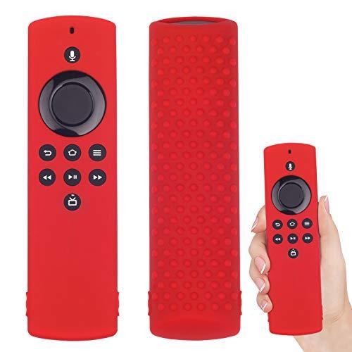 Custodia Protettiva Cover Compatibile con Fire TV Stick Lite Telecomando Antipolvere Anti-Goccia in Cover in silicone telecomando per Amazon Fire TV Stick Lite (Rosso)