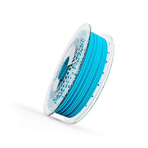 Filamento Elastico FILAFLEX 95A MEDIUM-FLEX con 95A de dureza shore semiflexible compatible con todas las impresoras 3D del mercado incluidas las de extrusor tipo bowden (2.85 mm 500 gr, Azul)