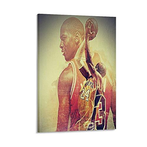 WERTQ Póster artístico de baloncesto e impresión artística de pared para habitación familiar moderna de 50 x 75 cm