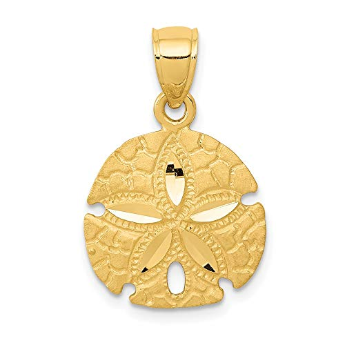 Saris and Things 14k gelbgold Sand-Dollar-anhänger