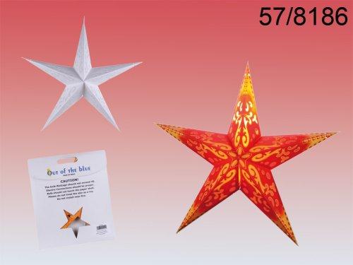 Papierstern Lampe Ornament zum selbst basteln