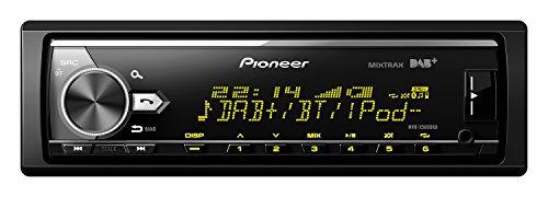 Pioneer MVH-X580DAB, 1DIN Autoradio mit DAB+ , RGB , deutsche Menüführung , Bluetooth , USB , AUX-Eingang , iPod/iPhone-Direktsteuerung , Freisprecheinrichtung , Smart Sync