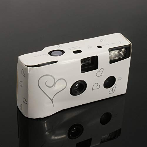 Hearts Disposable Camera with Flash 36exp for Bridal Wedding Party - Digital Cameras Mini Cameras- 1 x Disposable Camera