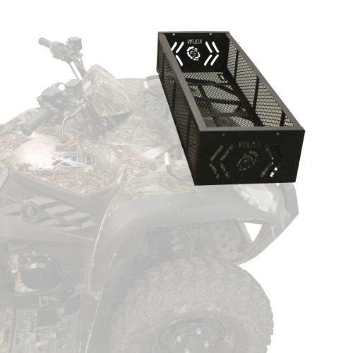 Kolpin 53360 ATV Front Rack Gear Basket, Black