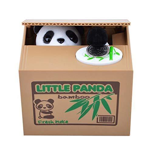 Ruiting Tirelire Panda Voleur,Tirelire Animal Panda Voleur de Monnaie Cadeau Jouet pour Enfant