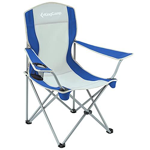 KingCamp Silla de Camping Ligera Aluminio Portátil para Actividades al Aire Libre Sillas Plegables Picnic Fishing...