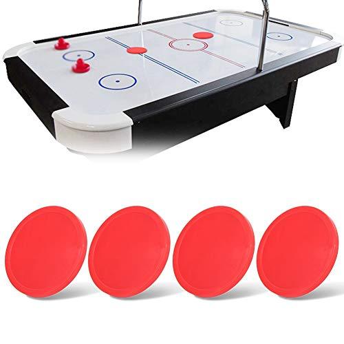 Weiyiroty 3 Size Plastic Red Durable Air Hockey Pucks Hockey Pucks for hockey tables(Medium (75mm))