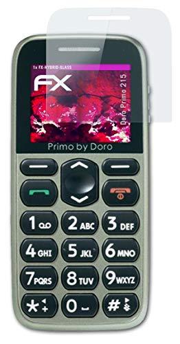atFolix Glasfolie kompatibel mit Doro Primo 215 Panzerfolie, 9H Hybrid-Glass FX Schutzpanzer Folie
