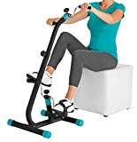 VITALmaxx Fitness trainer Duo, Cyclette 2 in 1, Nero/Turchese