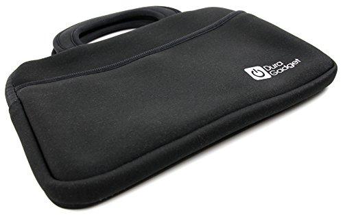 DURAGADGET Sacoche en néoprène + pour tablettes ASUS Memo Pad 8, VivoTab Note 8 (M80TA), Transformer Book T90 Chi, Auchan Qilive 8QC - Noir, avec poignée de Transportpar