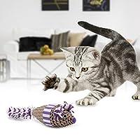 安全な紙猫スクラッチャー、緑猫スクラッチマウス、猫スクラッチャー用紫猫マウス動物ペット(purple) [クリスマスプレゼント、ニューイヤーギフト]