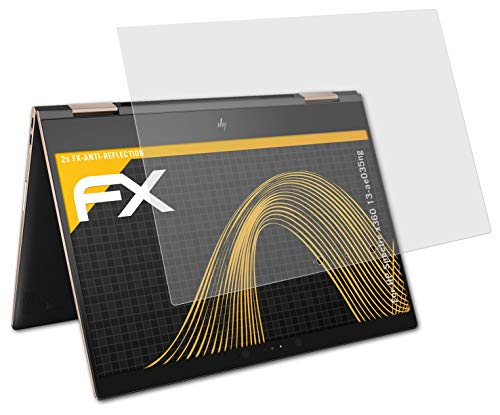atFolix Panzerfolie kompatibel mit HP Spectre x360 13-ae035ng Schutzfolie, entspiegelnde & stoßdämpfende FX Folie (2X)