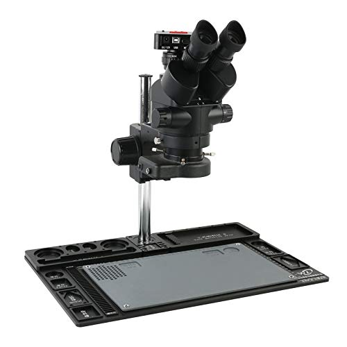 KANJJ-YU 3.5X-90X Zoom Simul Focal Trinocular Stereomikroskop + Multifunktions-Aluminium-Legierung Stand + 50MP 1080P 4K UHD HDMI-Kamera Vergrößerung (Color : G)