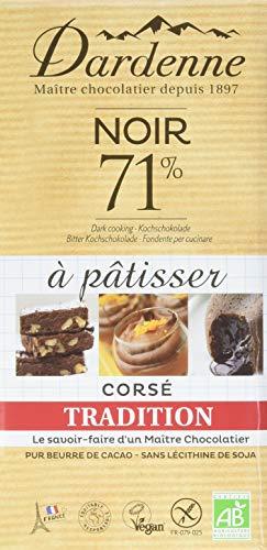 Dardenne Tablette Tradition Chocolat Noir 71% pour Cuisiner 200 g - Lot de 5