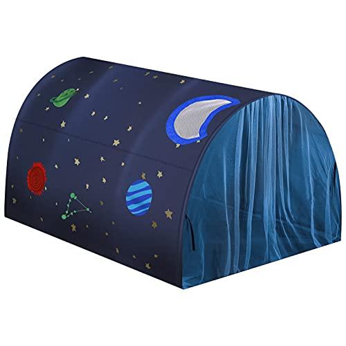 Vamei Weltraum Zelt für Kinder Star Kinderzelt Bettzelt Spielzelt für Jungen und Mädchen Outdoor Spielhaus mit Moskitonetz Faltbares Kinderzelt für Indoor Outdoor Spiele Kinderhaus Zelt Kinderzimmer