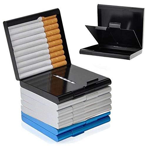 TineosigarettabakhouderSlim voor herenDames Metalen sigarettenkoker Container Pocketbox, goud