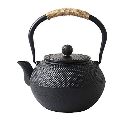 Sharemee Japanische Teekanne aus Gusseisen mit Edelstahlfilte, Tetsubin Teekessel, Asiatische Teekanne, 1200ml/41oz
