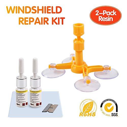 DELEE Windschutzscheiben-Reparatursatz, 2pcs Reparaturharz, DIY-Windschutzscheiben-Kit für die automatische Kristallreparatur, Reparatur von Autofenstern.