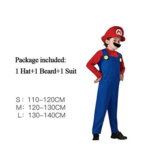 Super Mario Cosplay Adultos y niños Bros Cosplay Traje de baile Set Niños Fiesta de Halloween MARIO & LUIGI Disfraz para niños Regalos