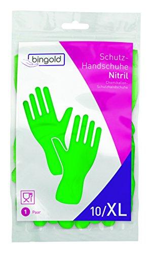 Guantes de nitrilo reutilizables, 1 par, tallas S, M, L o XL, azul o verde, XL, verde, 1