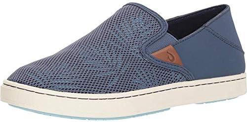 OLUKAI Women's Pehuea Slip On Shoes, Vintage Indigo/Palm, 5