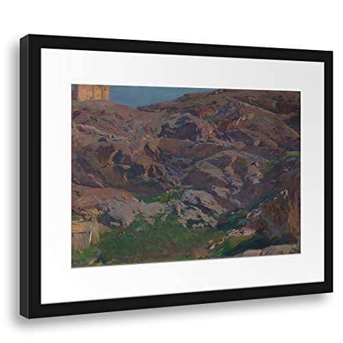 Printed Paintings Passepartout (55x40cm): Joaquín Sorolla y Bastida - Castillo de San Servando, Toledo