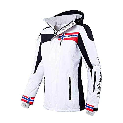 Nebulus Freestyle Veste Femme, Blanc, FR : S (Taille Fabricant : 36)