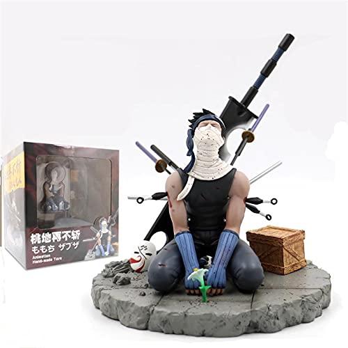 Anime Model Naruto Shippuden Itachi Momochi Zabuza Death Shape GK 15cm PVC Action Figure Statue Collectible Toy