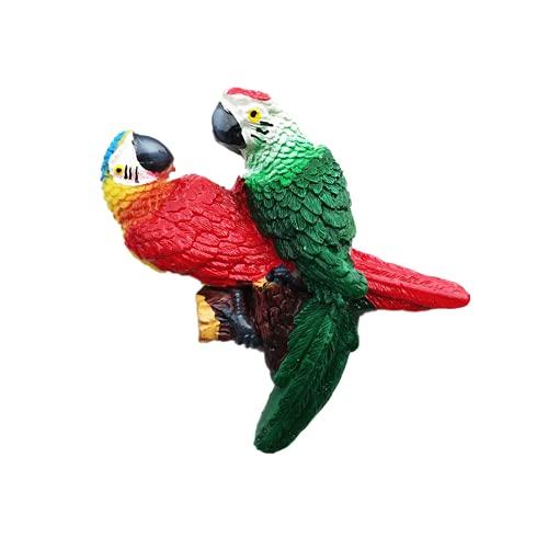 Imán de nevera 3D Guacamayo Brasil México Colombia Panamá Perú recuerdo Regalo Refrigerador Magnético Etiqueta