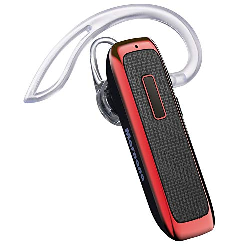 Bluetooth Headset, Wireless Bluetooth Earpiece w/ 18 Hours Playtime and Noise Cancelling Mic,Ultralight Earbud Headphone Hands-Free Calls for iPhone Samsung Android Cell Phone iPad Tablet Truck Driver