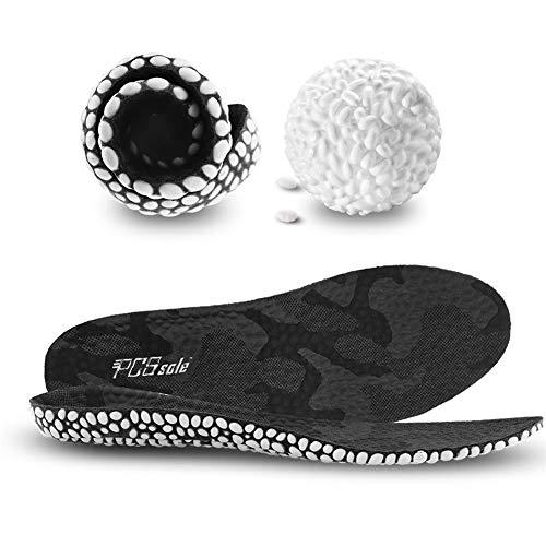 PCSsole Sport Einlegesohlen Fußbett Dämpfung Schuheinlagen für Arbeitsschuhe Laufschuhe Schuhe Komfort Gel Sohle Einlage für Damen und Herren (EU 41-44)