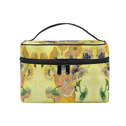 Van Gogh Tournesol Trousse de Maquillage Femmes Voyage Sac à Cosmétique Cas Trousse de Toilette Bag